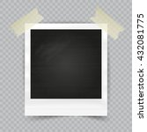 old empty realistic photo frame ... | Shutterstock .eps vector #432081775