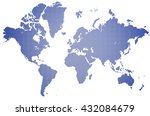 world map | Shutterstock . vector #432084679