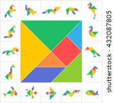 Tangram Set  Cut And Play....