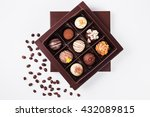 Handmade Chocolates In A Squar...