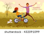 happy father's day greeting... | Shutterstock .eps vector #432091099