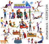 happy father's day greeting... | Shutterstock .eps vector #432091144