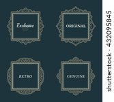 exclusive decor elements or... | Shutterstock .eps vector #432095845