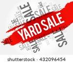 yard sale words cloud  business ... | Shutterstock .eps vector #432096454