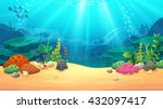 underwater world  vector art... | Shutterstock .eps vector #432097417