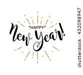 happy new year. beautiful... | Shutterstock .eps vector #432098947