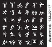 set of sport icons. vector... | Shutterstock .eps vector #432100447