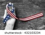 american flag pattern awareness ... | Shutterstock . vector #432103234