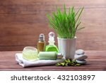 spa composition on wooden... | Shutterstock . vector #432103897
