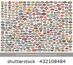 set of premium quality icons  ... | Shutterstock .eps vector #432108484