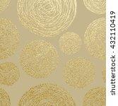 Gold Texture. Circles Pattern....