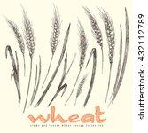 ears of wheat elements... | Shutterstock .eps vector #432112789