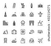 landmarks  travel. set of... | Shutterstock .eps vector #432114271
