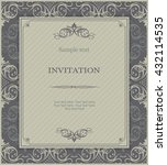 vintage invitation card with... | Shutterstock .eps vector #432114535