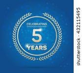 5 Years Anniversary Badge On...