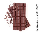 Small photo of chocolate bar isolated on white