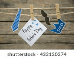 fathers day greeting card or... | Shutterstock . vector #432120274