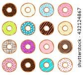 set of donuts  vector... | Shutterstock .eps vector #432124867