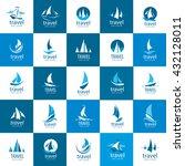 vector logo yacht | Shutterstock .eps vector #432128011