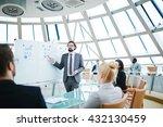 businessman explaining plan of... | Shutterstock . vector #432130459