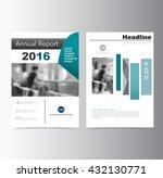 blue annual report brochure... | Shutterstock .eps vector #432130771