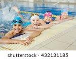 happy group of children...   Shutterstock . vector #432131185