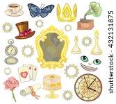 fairy tale elements on white... | Shutterstock .eps vector #432131875