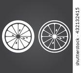 lemon line icon  lime slice...