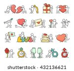 Cartoon Romantic Icons Set Of...