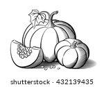 stylized image of pumpkins. big ... | Shutterstock .eps vector #432139435