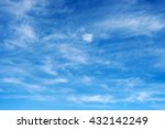 blue sky background with white... | Shutterstock . vector #432142249