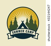 summer camp icon.   Shutterstock .eps vector #432144247