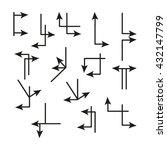 set of arrows  vector icon | Shutterstock .eps vector #432147799