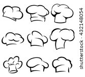set of chef hats icons.... | Shutterstock .eps vector #432148054