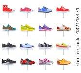 vector sport shoes sneakers... | Shutterstock .eps vector #432148471