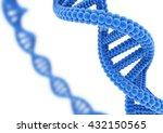 blue dna. 3d illustration. | Shutterstock . vector #432150565