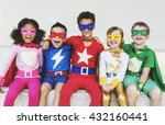superheroes kids friends... | Shutterstock . vector #432160441