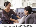 pregnant woman being examined... | Shutterstock . vector #432161734