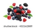 berries isolated on white... | Shutterstock . vector #432162889