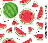 slice of watermelon. seamless... | Shutterstock .eps vector #432176431