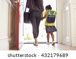 close up of mother and daughter ... | Shutterstock . vector #432179689