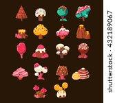 chocolate landscape elements... | Shutterstock .eps vector #432189067