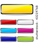 colorful rectangle buttons... | Shutterstock .eps vector #43219768
