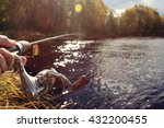 autumn fishing spinning in his... | Shutterstock . vector #432200455