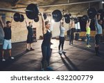 fit young people lifting... | Shutterstock . vector #432200779