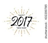 2017 happy new year. beautiful... | Shutterstock .eps vector #432200785