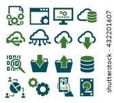 information management icon set | Shutterstock .eps vector #432201607