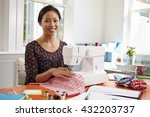 woman making clothes using... | Shutterstock . vector #432203737