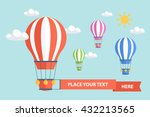 hot air balloons and clouds.... | Shutterstock .eps vector #432213565