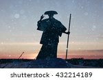 Monk Warrior Snow Landscape